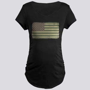Camo American Flag [Vintage] Maternity Dark T-Shir